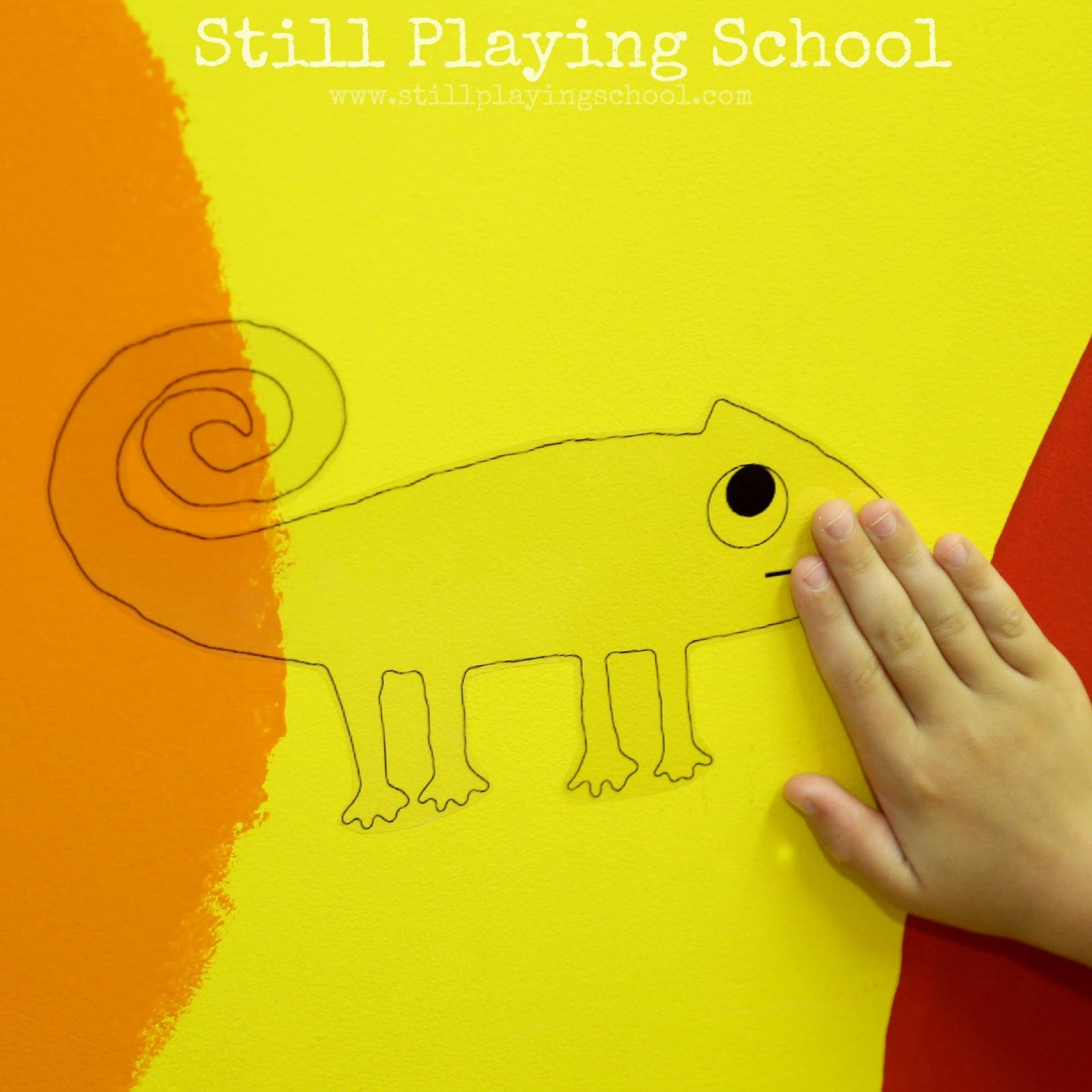 chameleon color changing activity for a color of his own - A Color Of His Own Book