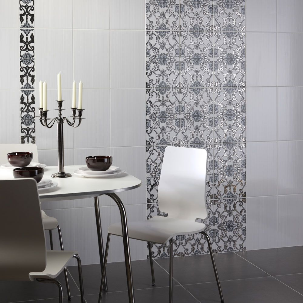 White Linear Wall Tiles 40x25 Walls and Floors(이미지 포함) 욕실