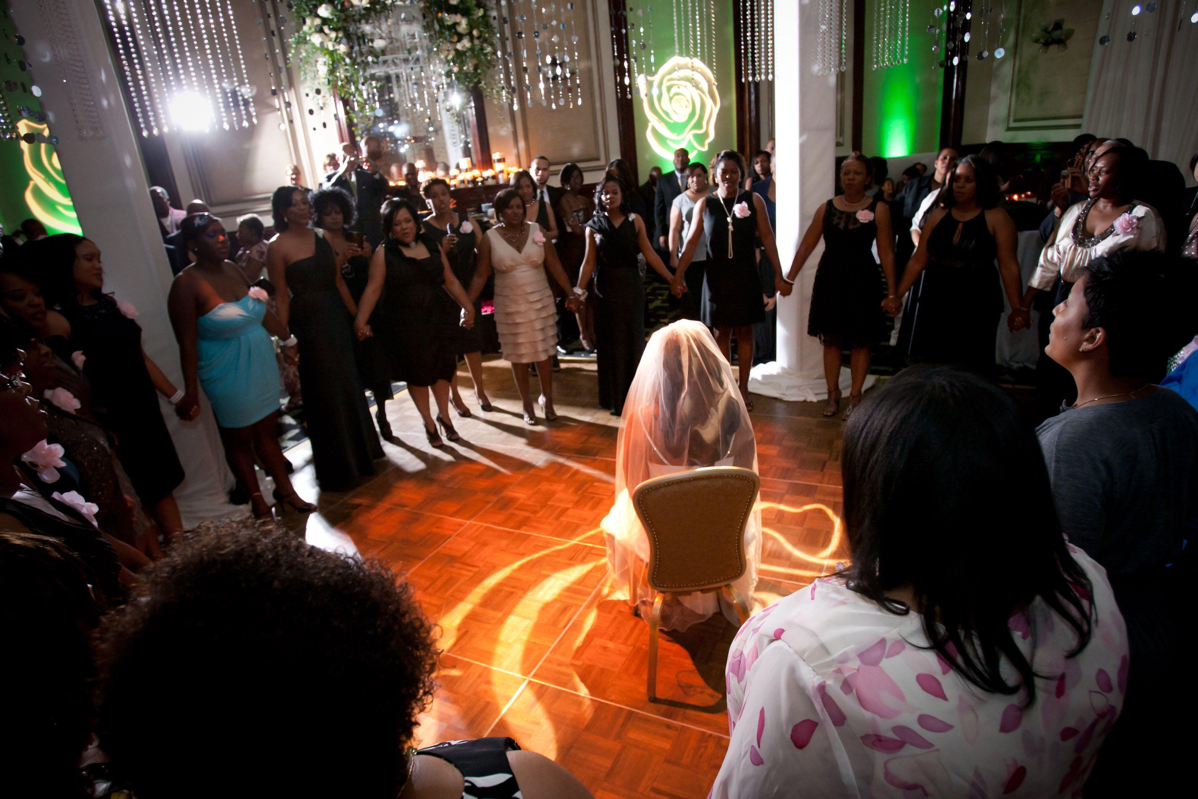 Aka sorority hymn at the wedding reception wedding bells