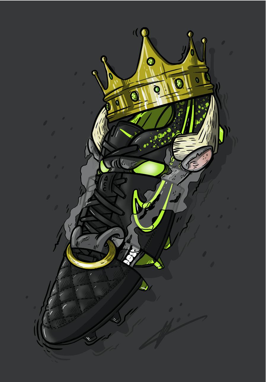 Football Art Nike Tiempo Legend 4 Electro Flare Nike Art Sneaker Art Soccer Art