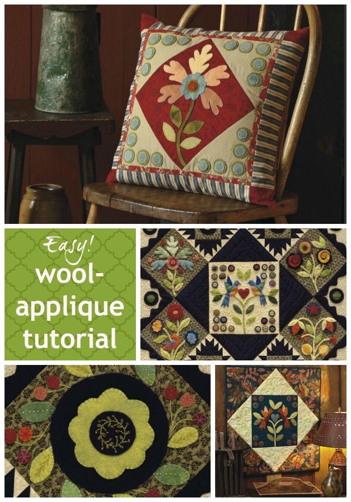 Easy wool-applique tutorial More