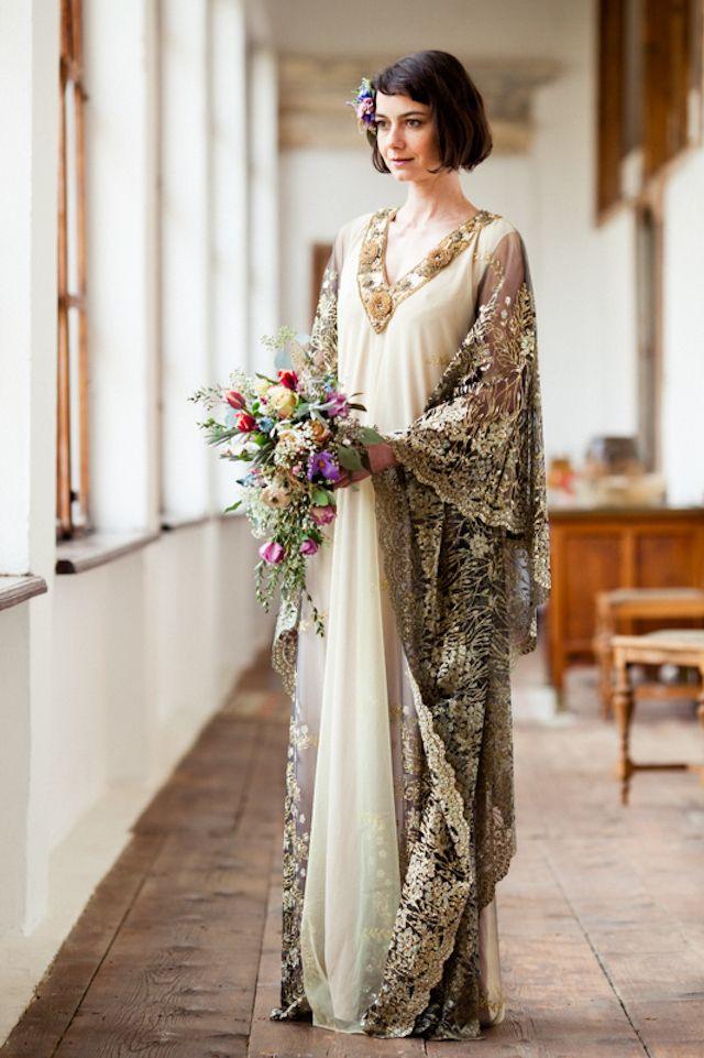 snowflakes and austrian art deco Art deco wedding dress Art