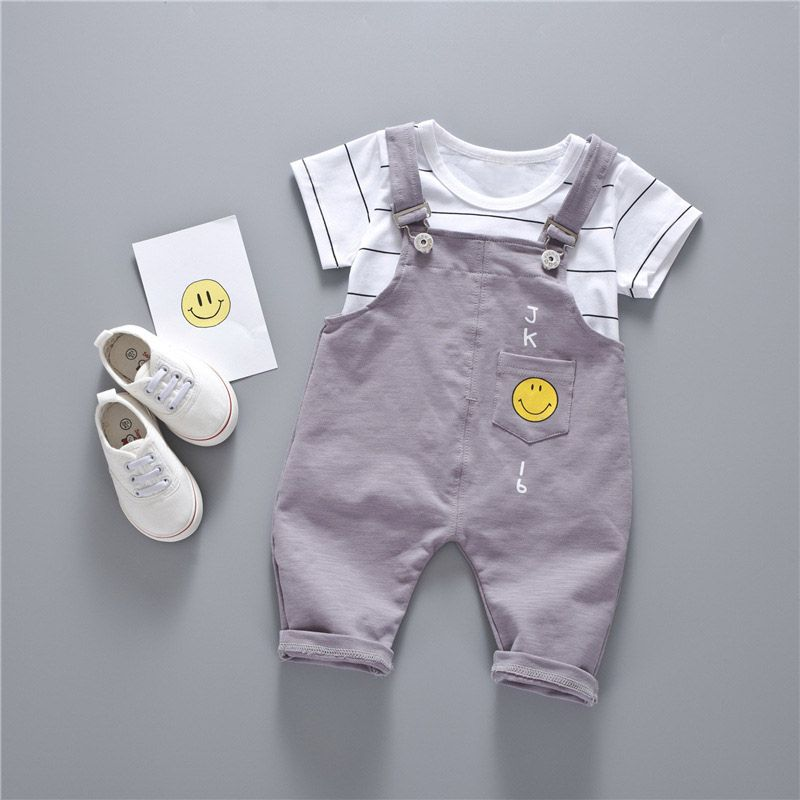 17c1695e2 Click to Buy    2017 New Baby boy girl clothes summer white striped ...