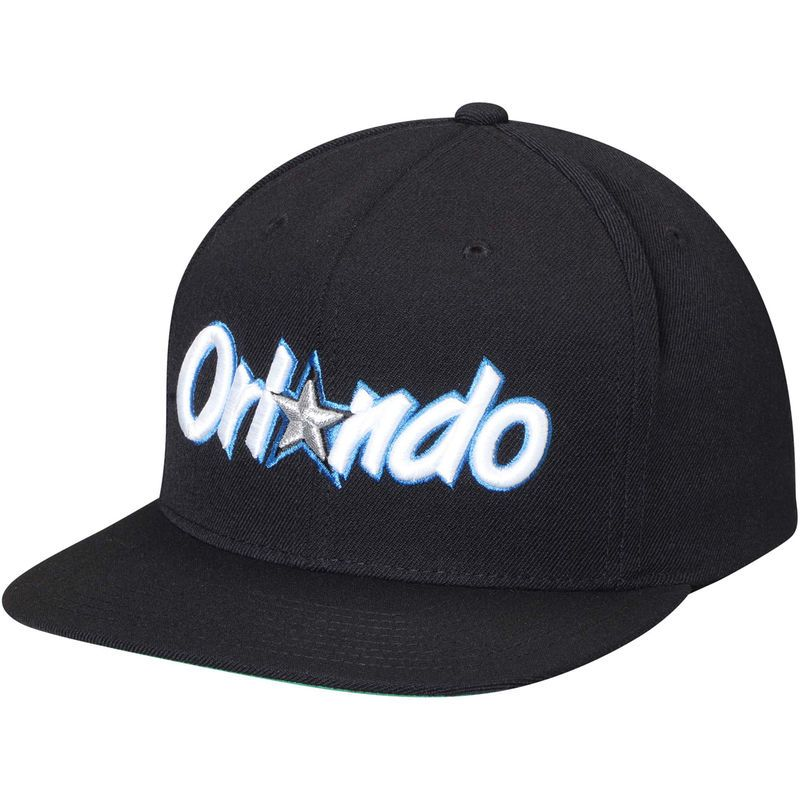 check out 0d5f7 39f23 Orlando Magic Mitchell   Ness Hardwood Classics Wool Solid 2 Adjustable Hat  - Black