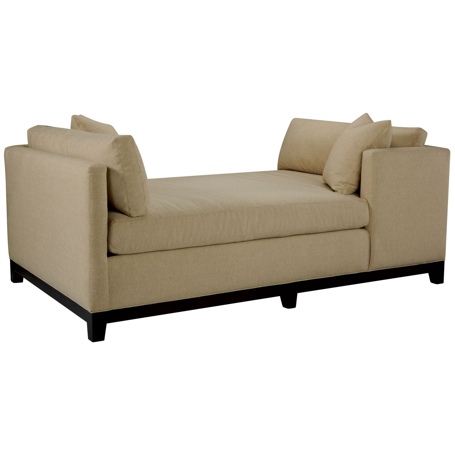 Morgan Double Chaise Zinc Door Modern Chaise Lounge Double