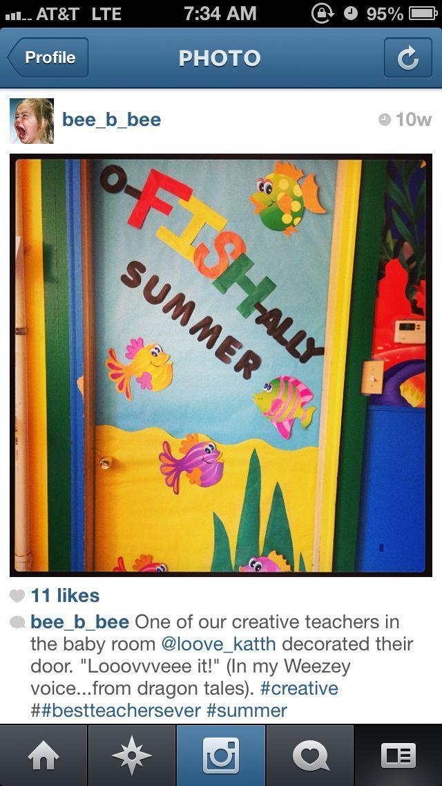 Day care door decoration. Bulletin board idea.   it's ...