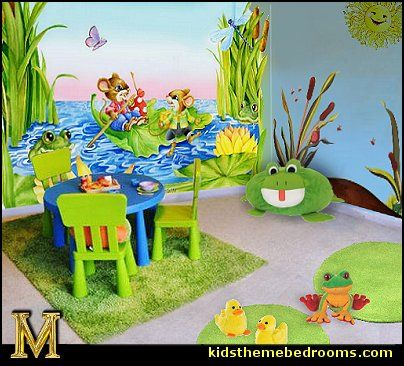 Frog Pond Wall Decals Summer Set Wall Decals Frog Theme