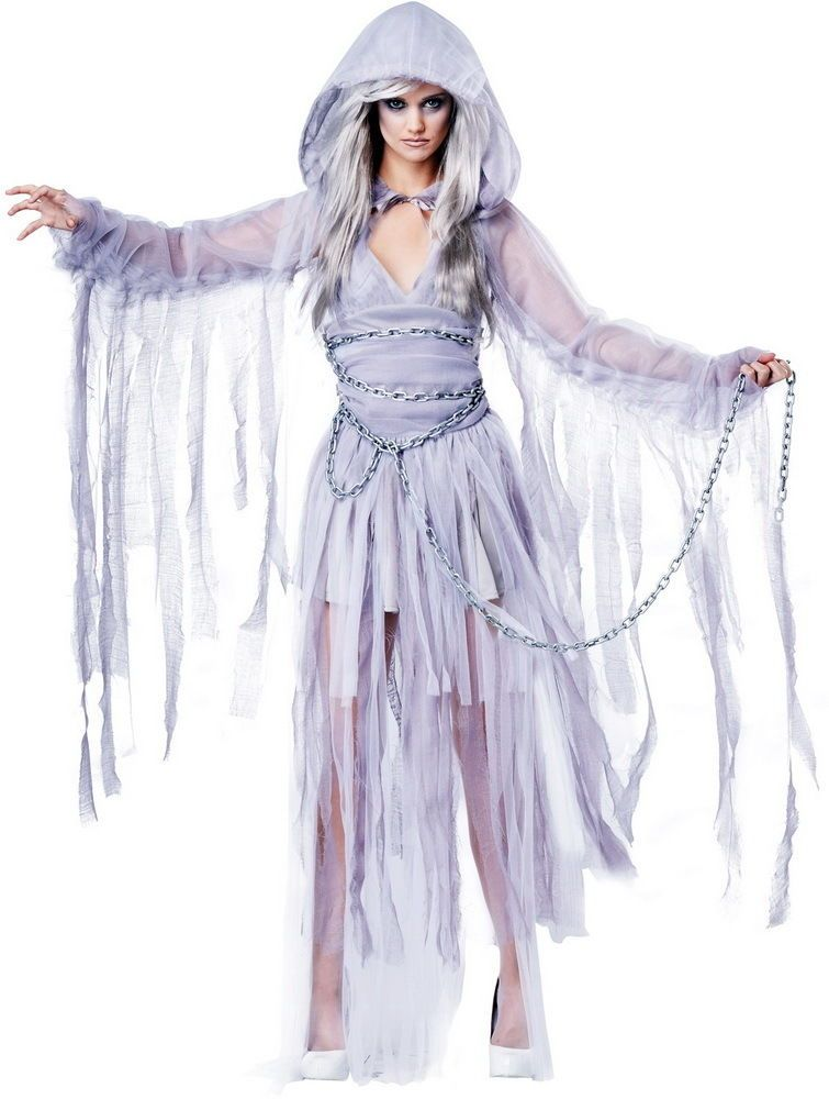 Spirit Of Christmas Past Costume.Details About Scary Ghastly Ghost Creepy Haunting Lady Dress