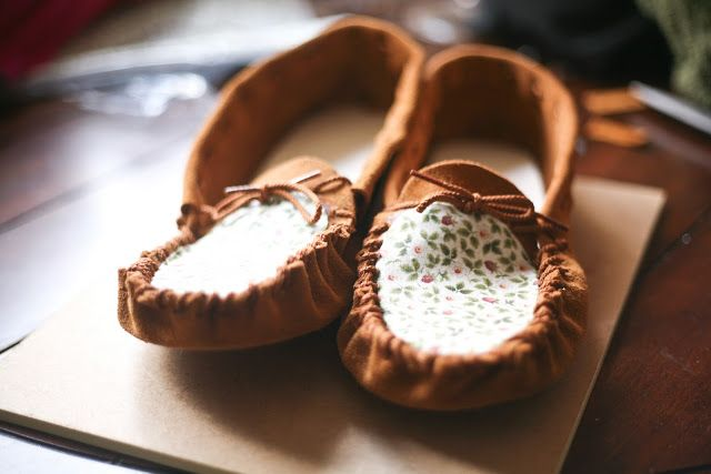 Sunday project: make a custom pair of moccasins.