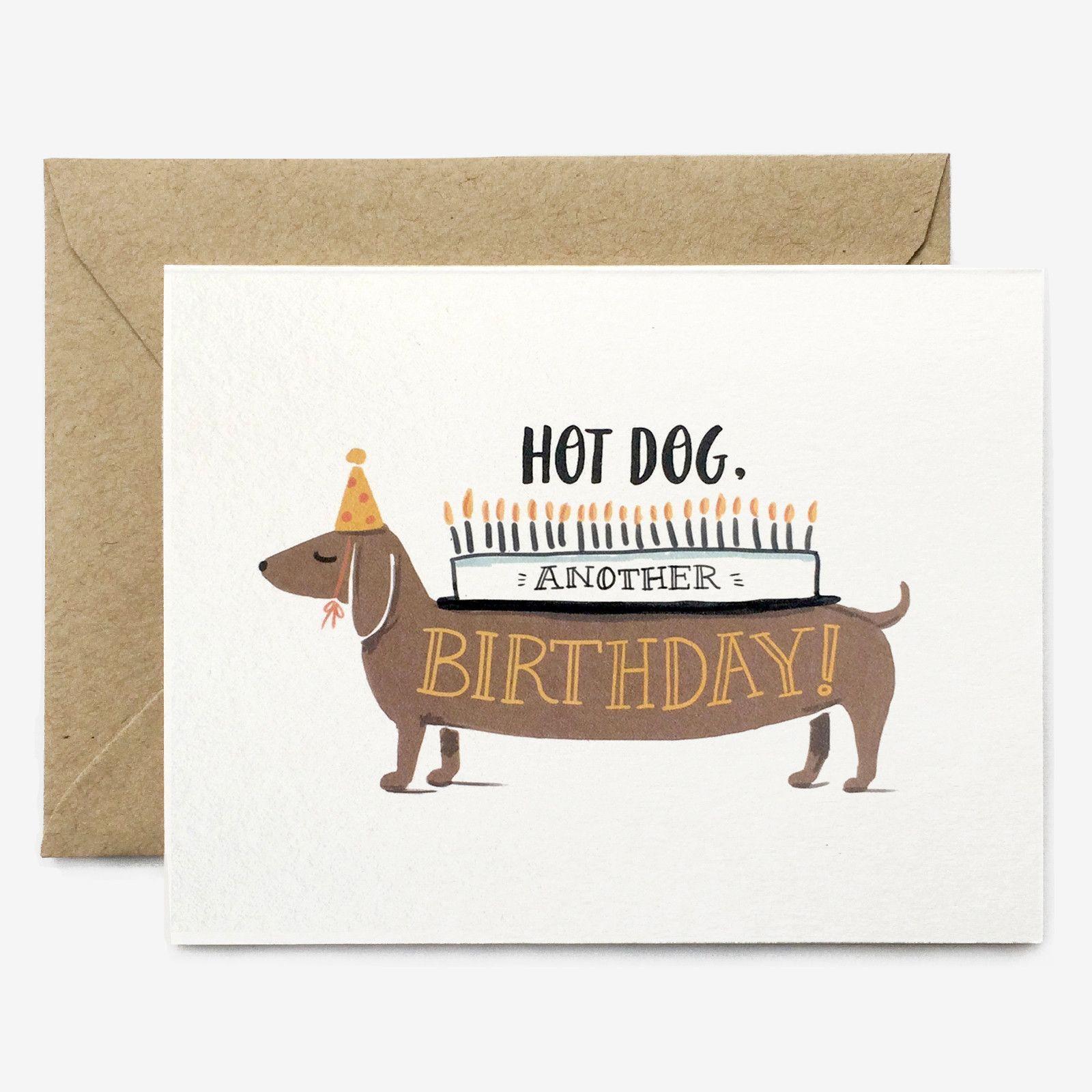 Hot Dog Birthday Card Cello Envelopes And Brown