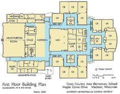 first floor plan of the new elementary school.] | g | pinterest