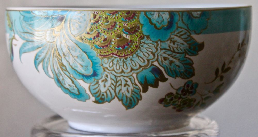 222 fifth eliza spring turquoise cereal soup bowl round 5 inch ...