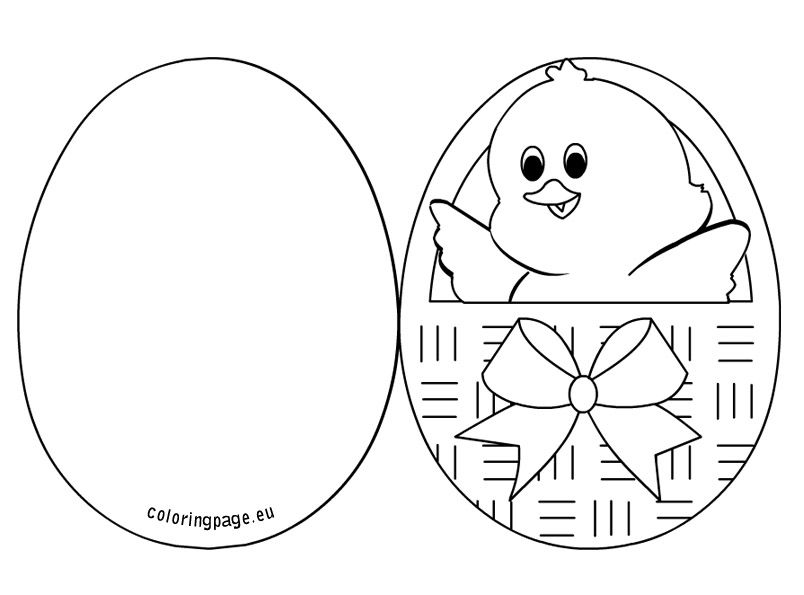 chick inside an easter basket 2 - Easter Coloring Pictures 2