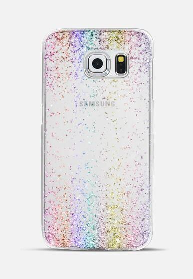 detailed look a5f72 2967d Impact Samsung Galaxy S10 Case - Rainbow Sparkly Glitter Burst ...