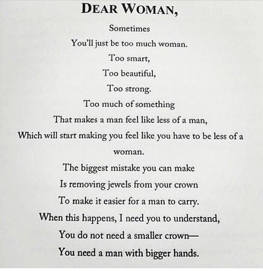 Dear Woman via Not Your Average White Girl   QUOTE ME   Strong