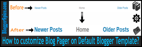 How to customize Blog Pager on Default Blogger Template? | Template ...