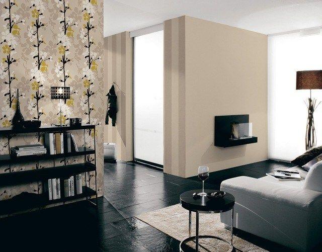 Vliestapete - 25 originelle Designs für das Wohnzimmer Wände - wohnzimmer design steinwand