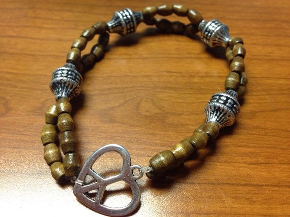 Natural Peace bracelet, Made by me -no longer available