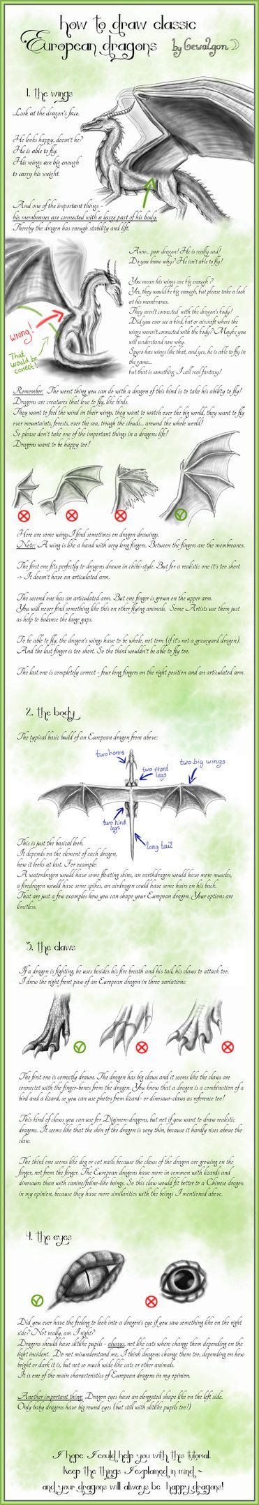 How to draw Classic European Dragons - by Gewalgon by Gewalgon on deviantART