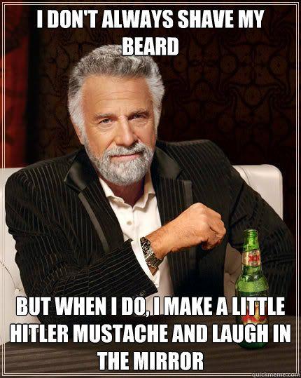 45e0ba70b9d9a675ab1e65813ee0c632 adolf hitler mustache moustache funny pinterest