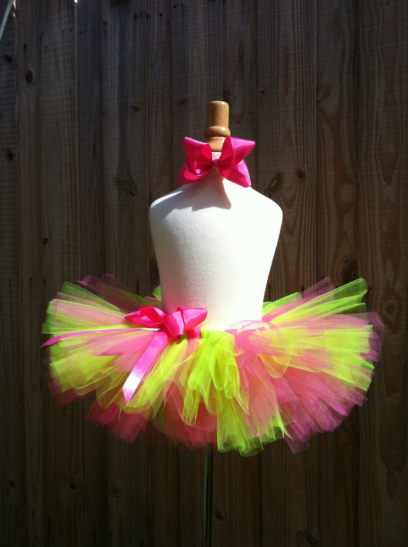 91fd46c67 tutu. baby tutu. newborn tutu. birthday tutu. toddler tutu. tutu skirt. Pink,  Neon Green, Yellow.. $28.00, via Etsy.