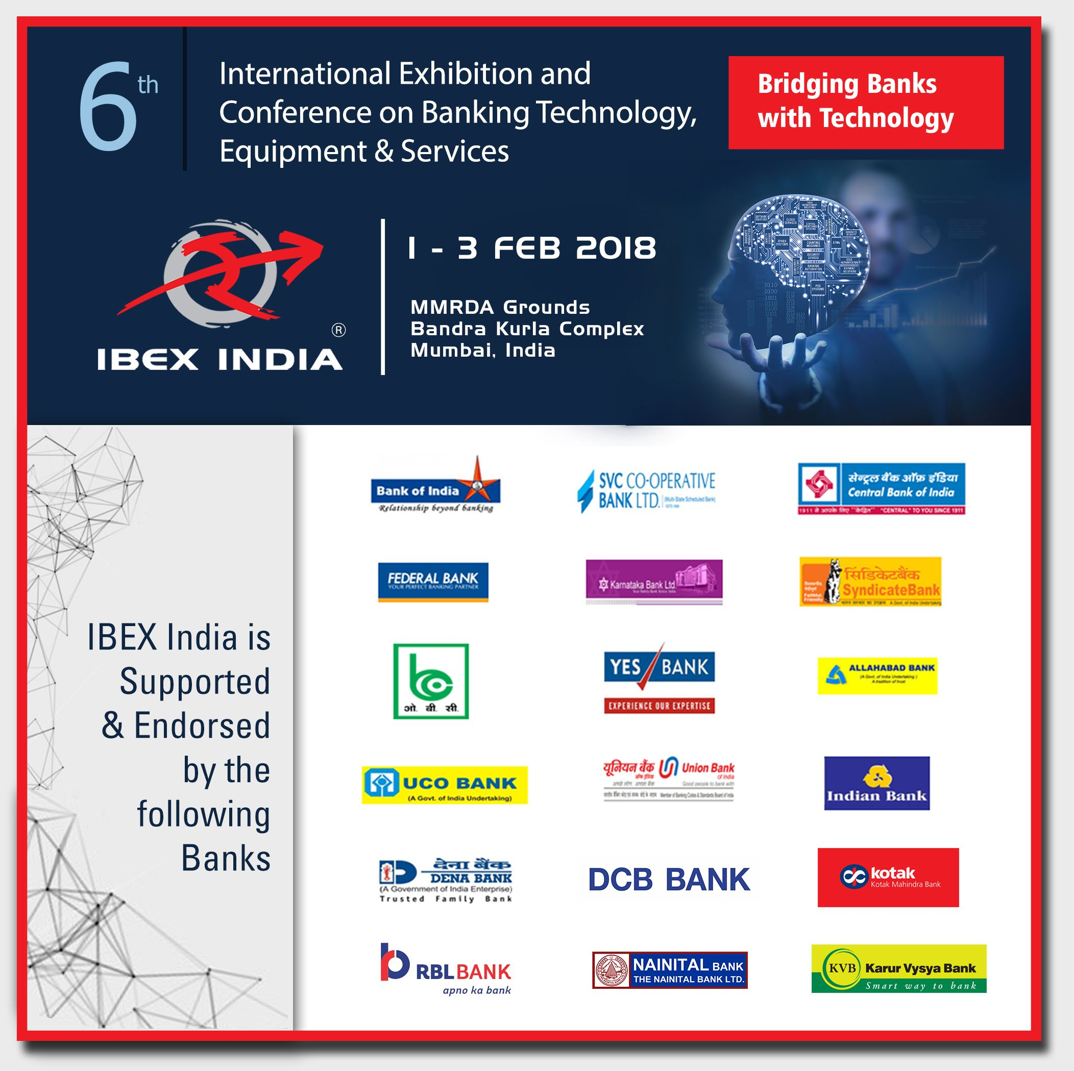IBEX India is Supported & Endorsed by the following Banks