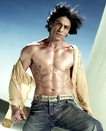 Image result for Shahrukh Khan abs
