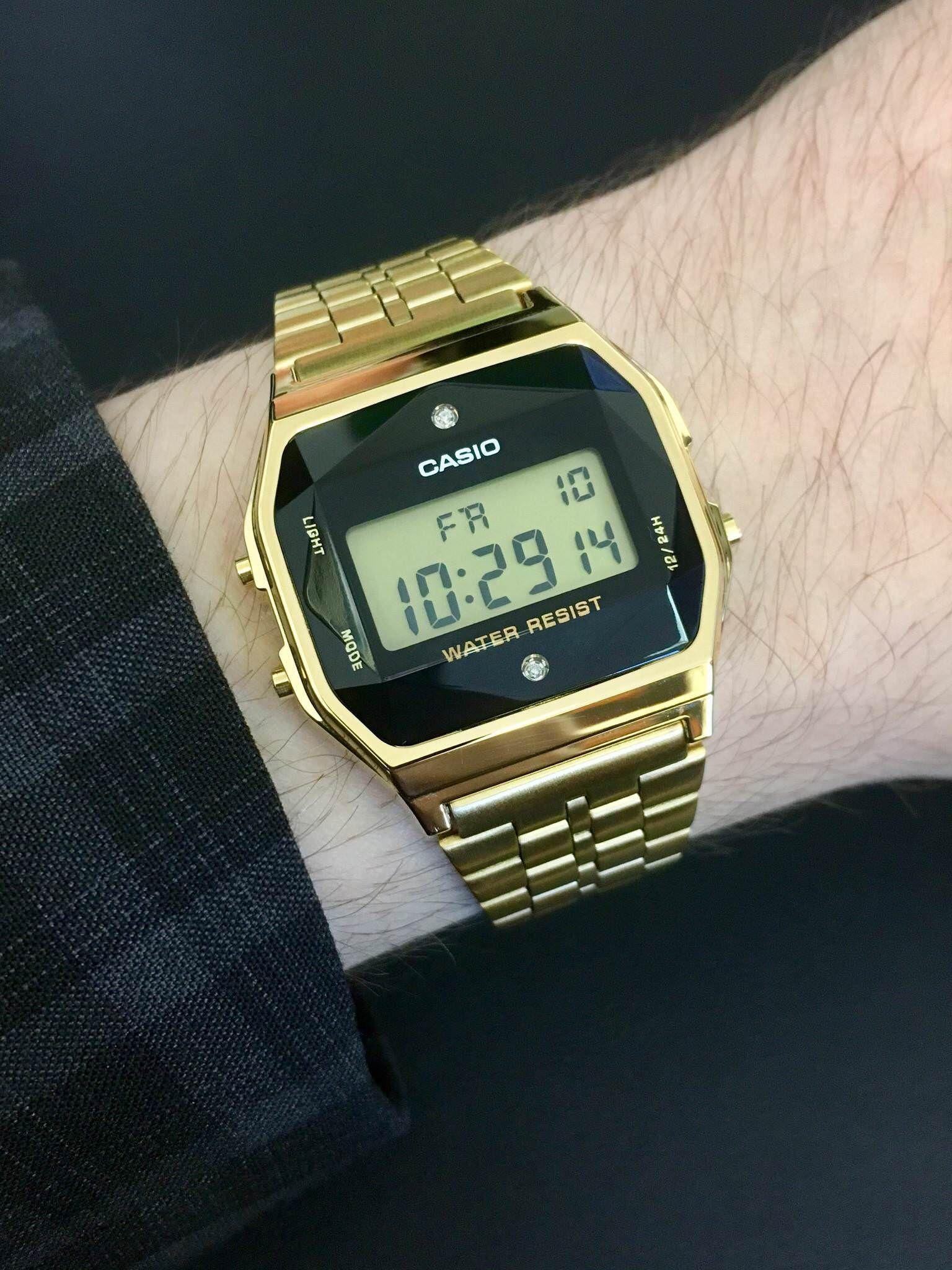 d25307652 Casio] Gold G-Shock Vintage Diamond | G shock watches em 2019 ...