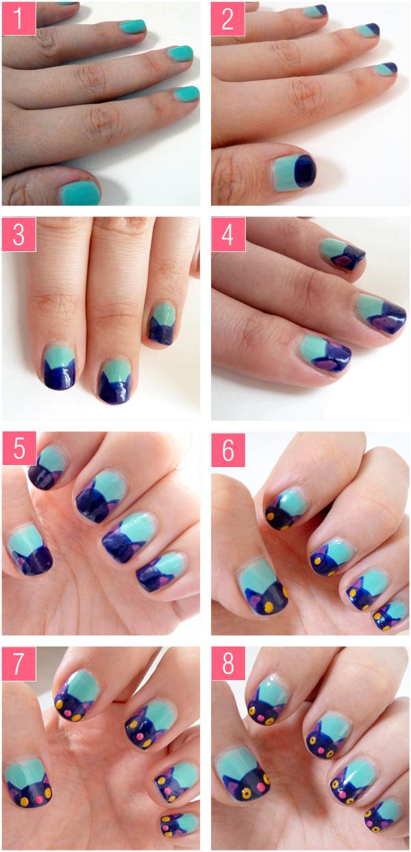 Pretty kitty nail art tutorial nails pinterest art pretty kitty nail art tutorial prinsesfo Images