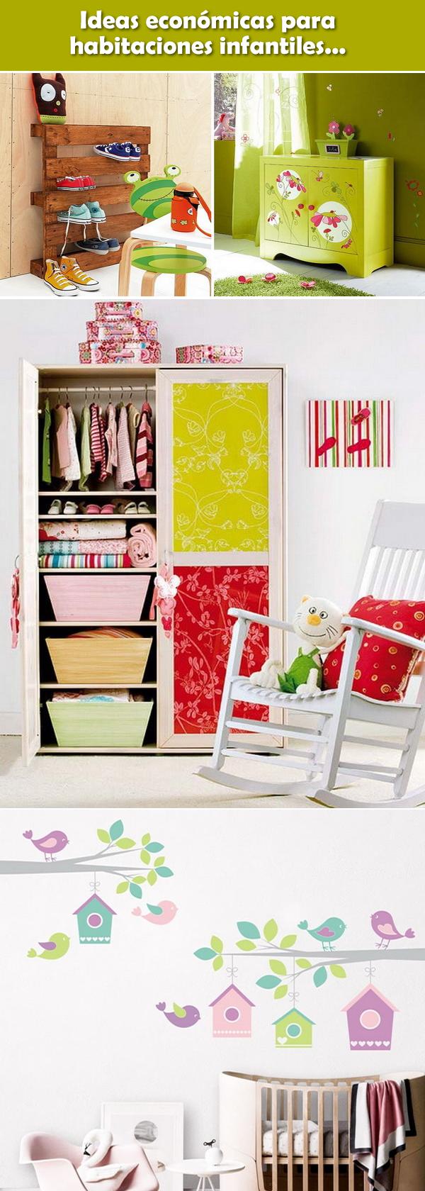Ideas econ micas para habitaciones infantiles dormitorios infantiles decoraci n infantil - Habitaciones infantiles economicas ...