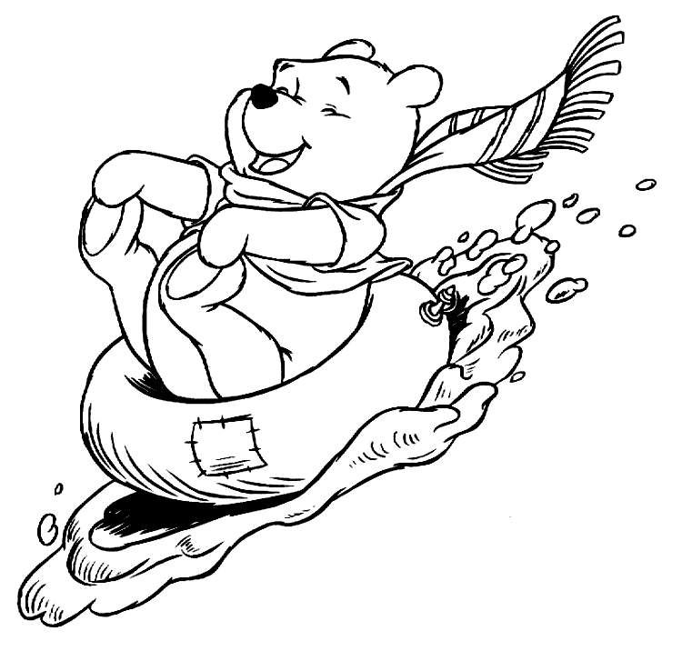 Winnie The Pooh Color Page Disney Coloring Pages Plate Sheetprintable Picture