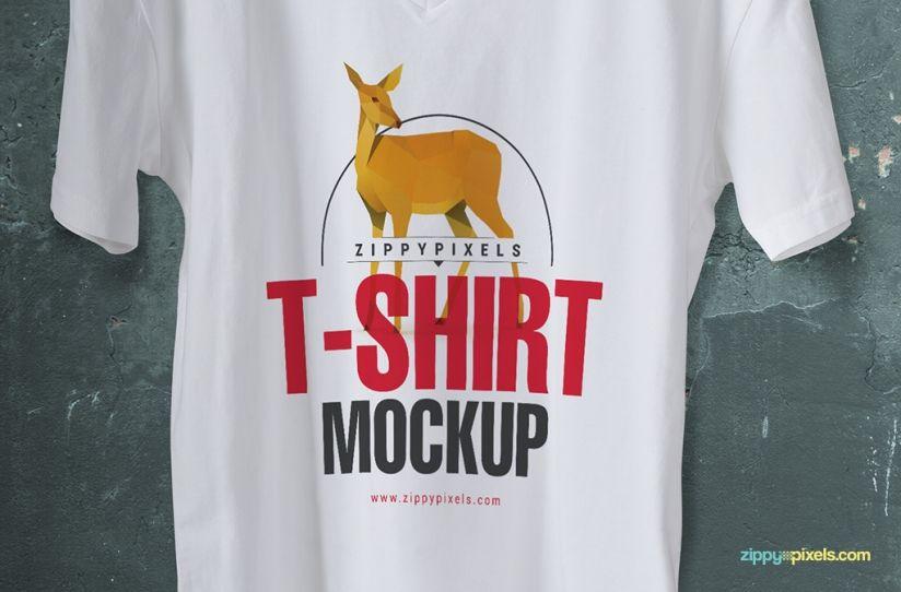 Download Trendy Free V Neck T Shirt Mockup Zippypixels Shirt Mockup Clothing Mockup T Shirt