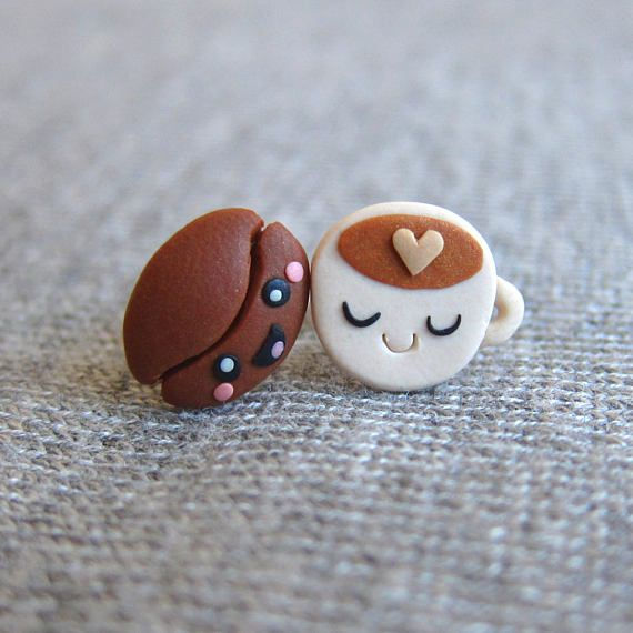 Photo of Polymer clay funny studs – FImo DIY, polymer clay tutorials