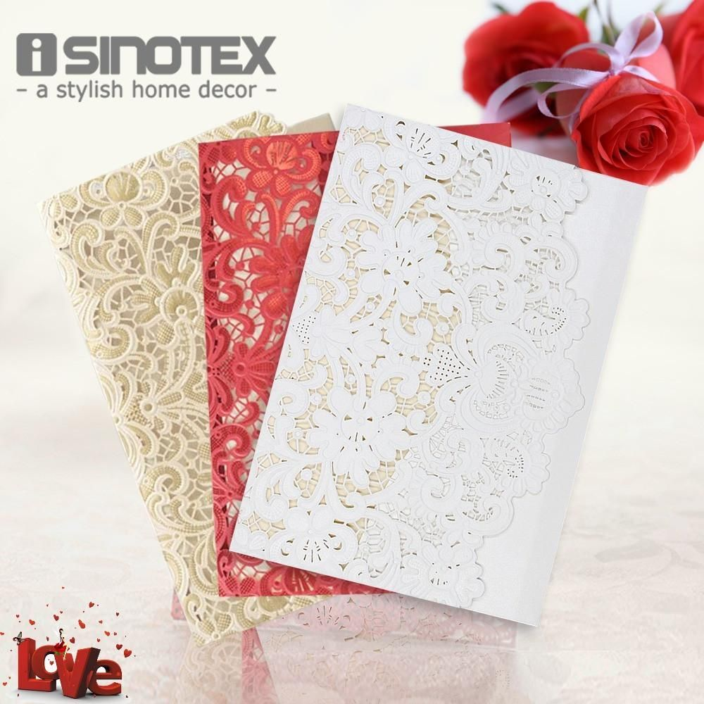 Wedding Invitations Cards Laser Cut Lace Birthday Business Party ...