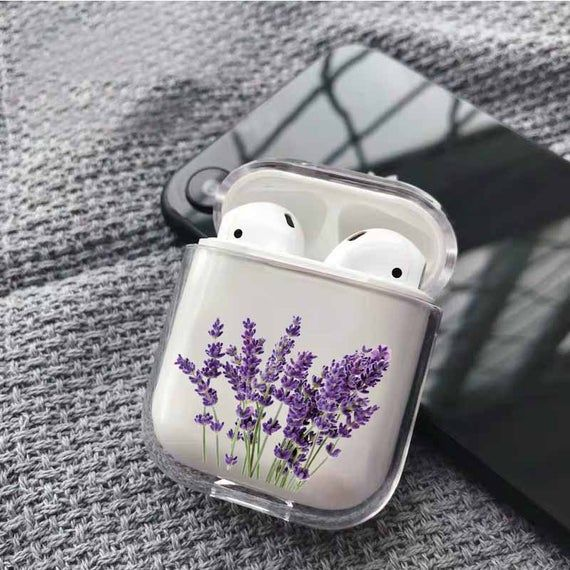 Lavender Airpods Case Personalized Case Custom Cover Apple Air Etsy In 2021 Airpod Case Earbuds Case Luxury Iphone Cases