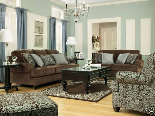 Coventry Modern Chocolate Fabric Sofa Couch Loveseat Set Living Room Furniture Brown Couch Living Room Brown Living Room Decor Brown Living Room