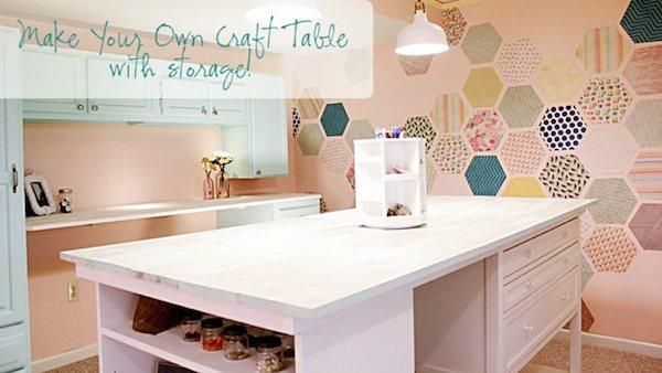 Sensational Diy Craft Table With Storage These Ladies Are Wonderful Download Free Architecture Designs Embacsunscenecom