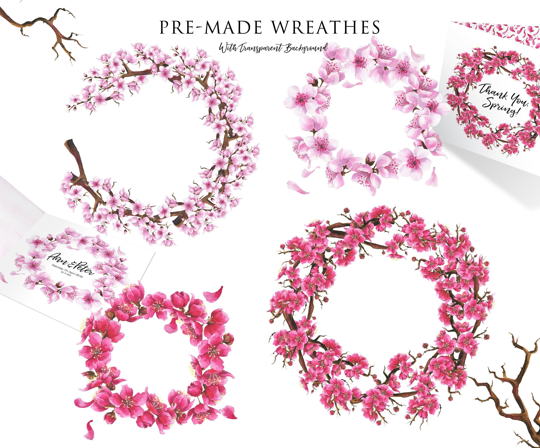 Pink Dreams Of Sakura Watercolor Set