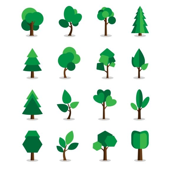 Tree Symbols Symbols Creative And Game Background