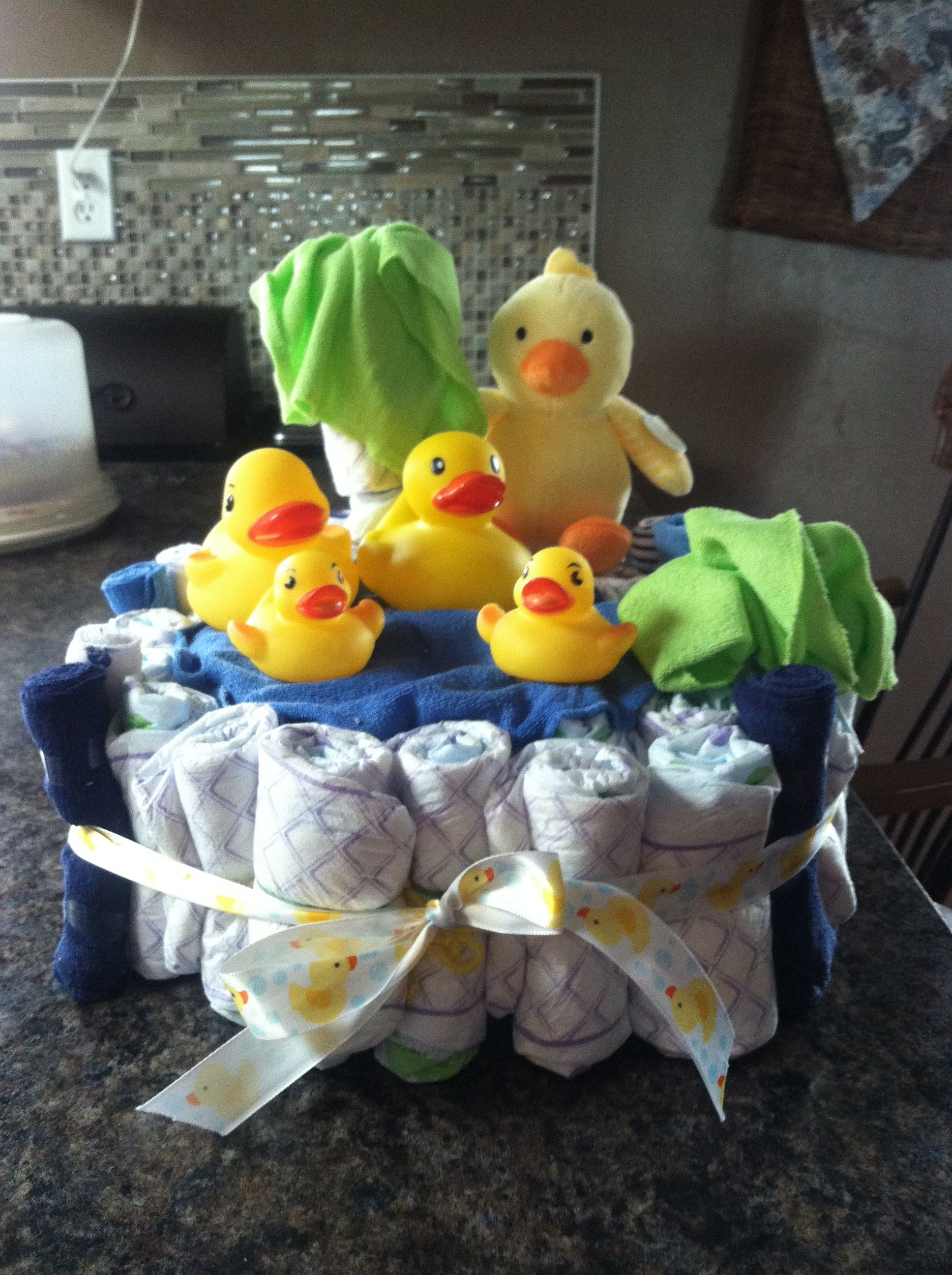 Duck Pond Diaper Cake Baby Diaper Cake Baby Diapers Diaper Cake