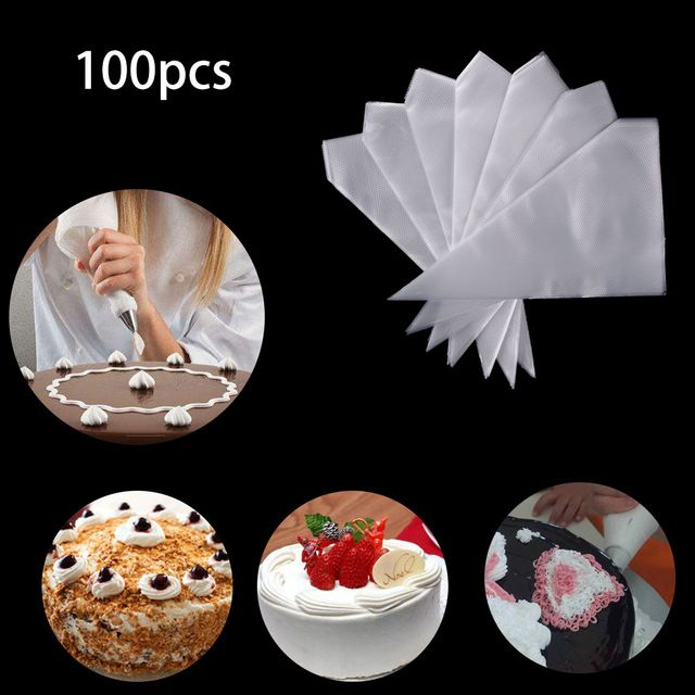 50//100 Mutil-Size Icing Piping Pastry Disposable Cream Bags Cake Decor Tool