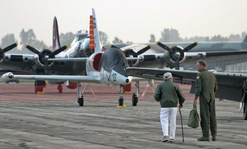 Early morning at Baltia Thunder Over Michigan Airshow, 2014. Photo by Tom Demerly.