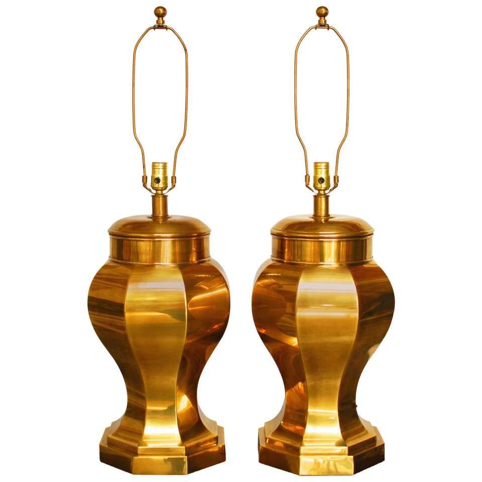 Frederick cooper chinoiserie brass ginger jar lamps jar lamp and frederick cooper chinoiserie brass ginger jar lamps arubaitofo Choice Image