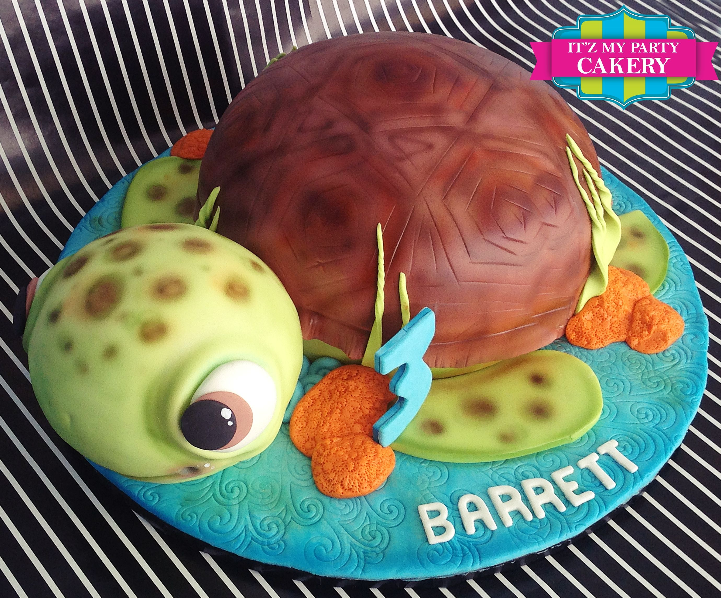 Sea Turtle Birthday Cake Cakes Pinterest Turtle Birthday
