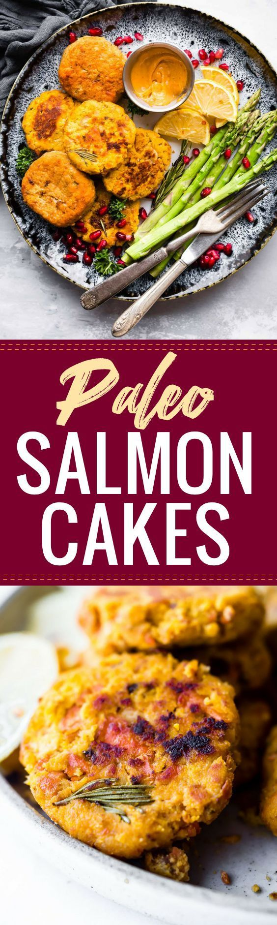 Paleo Salmon Cakes are quick,easy to make, delicious meal or appetizer!These Salmon cakes are literally veggie packed and protein packed, not to mention whole30 friendly. | Posted By: DebbieNet.com