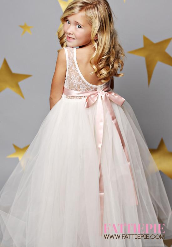 7459f18c3 Sweet Heart Lace Open Back JAN Flower girl dress in 2019 | Wedding ...