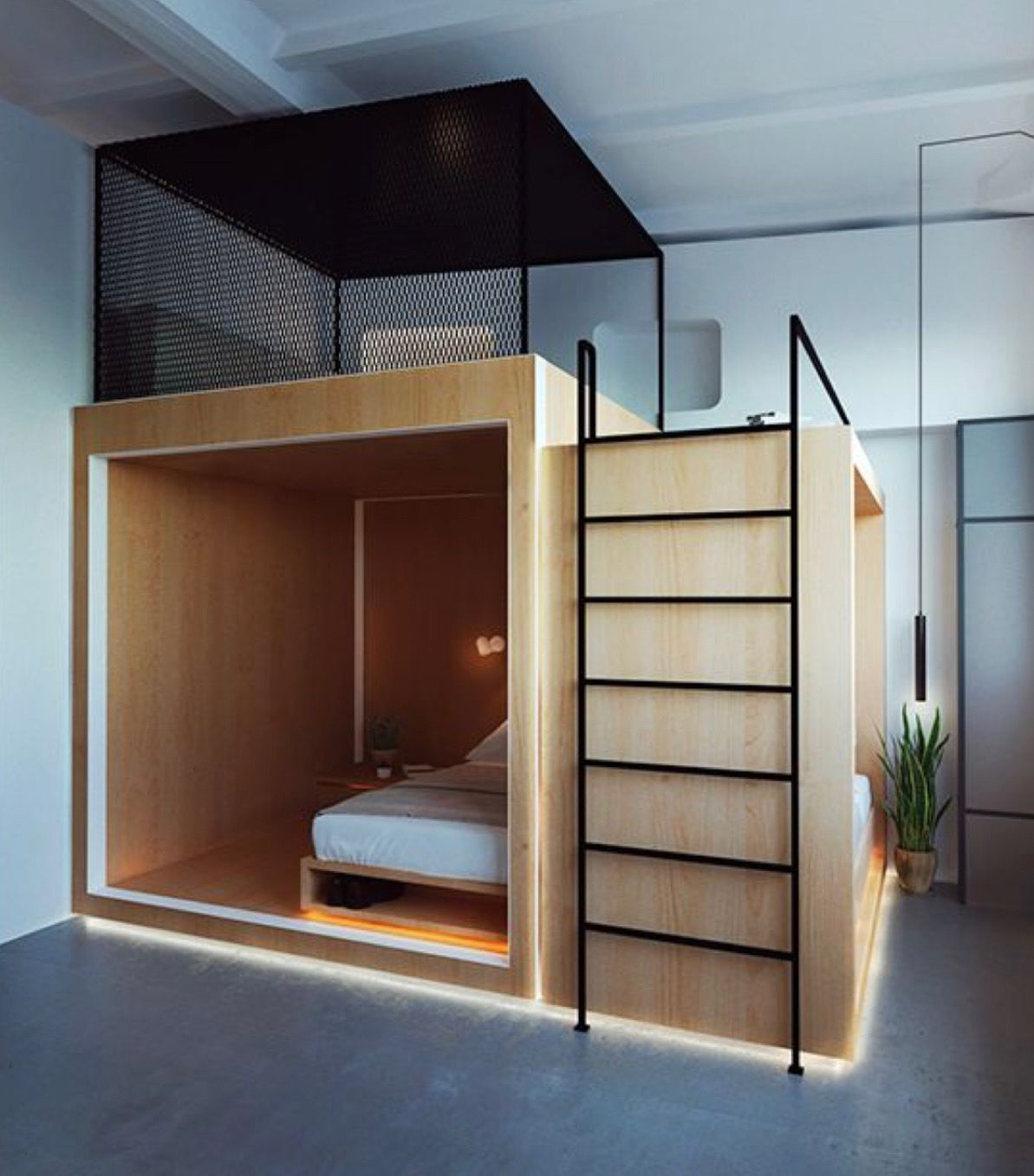 Pin By R O O S T On Roost Beds Hostels Design Tiny House
