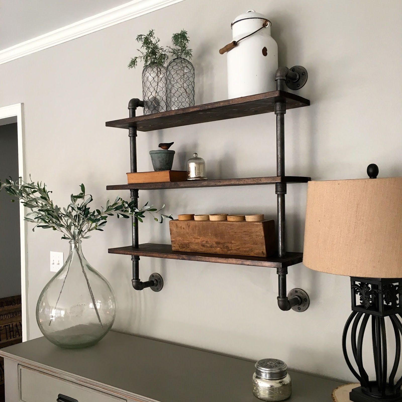 Industrial Bookcase Diy Diy Pipe Shelving Pipe Shelving Diy Pipe And Shelving