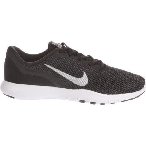 New Nike Womens Flex TR 7 Training Shoes Black/Metallic Silver Size 8
