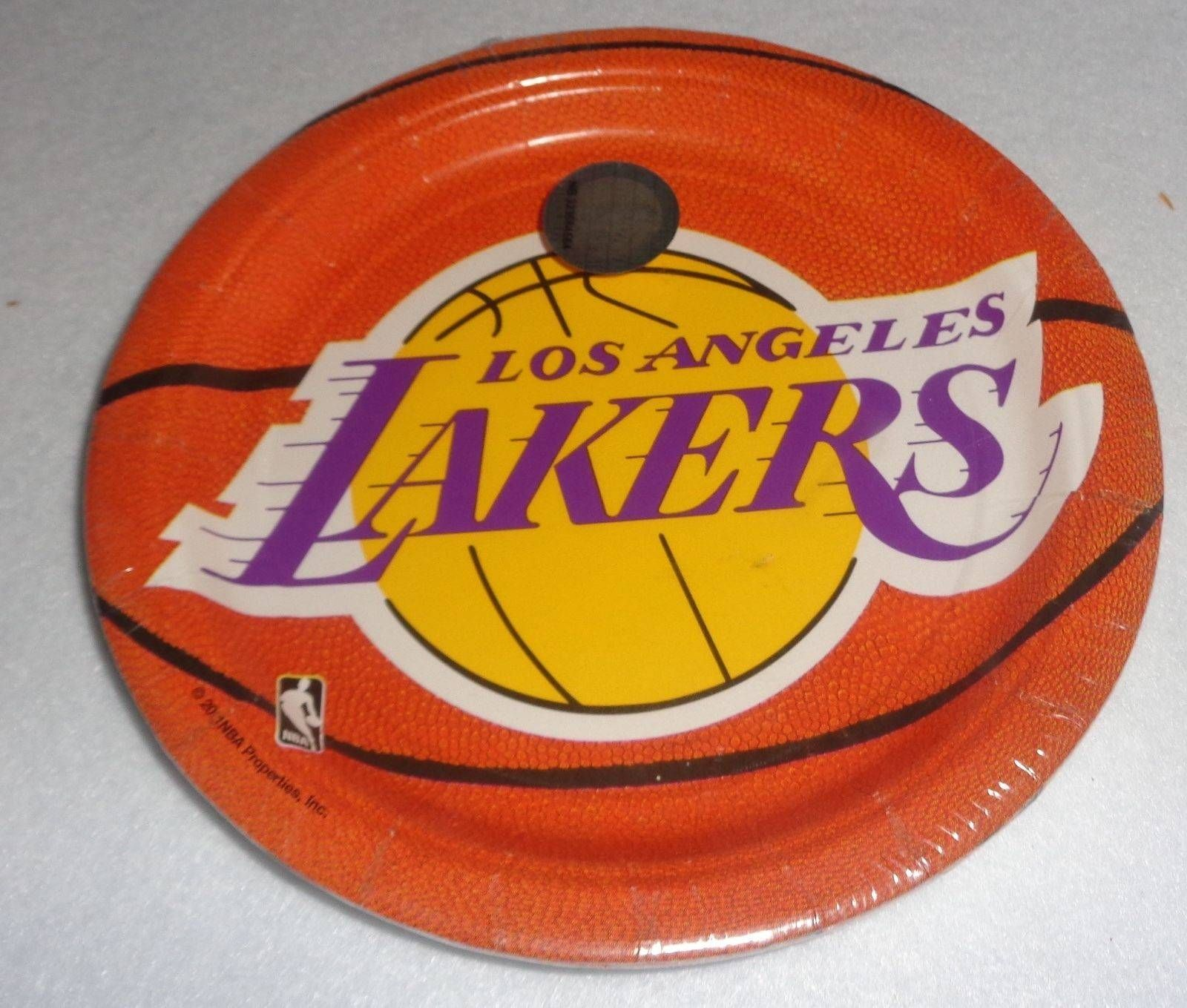 Los Angeles Lakers NBA Collection 7 Dessert Plates